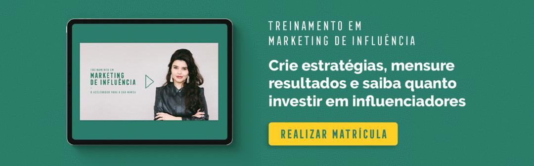 Matrículas abertas: Treinamento em Marketing de Influência