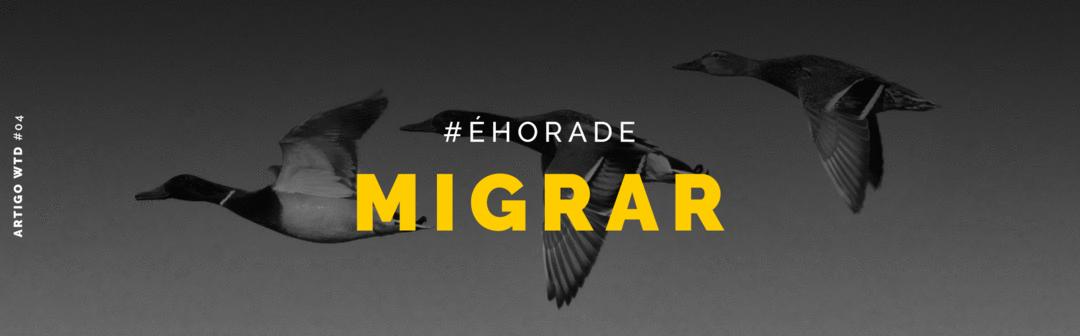 #éhorademigrar: primeira live HOJE às 17h!